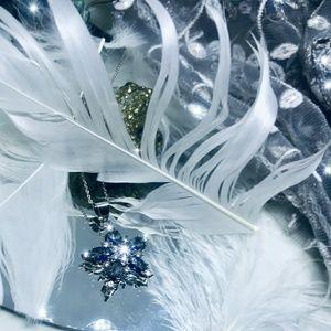 "💙AUTH BLUE TOPAZ & DIAM (Lab;) STAR NECK💙16""-18"""
